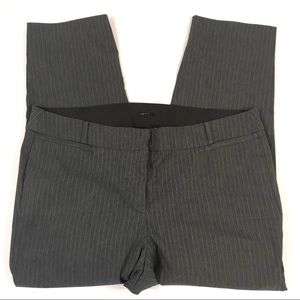 Lane Bryant Gray Pinstripe Skinny Pants Womens 22